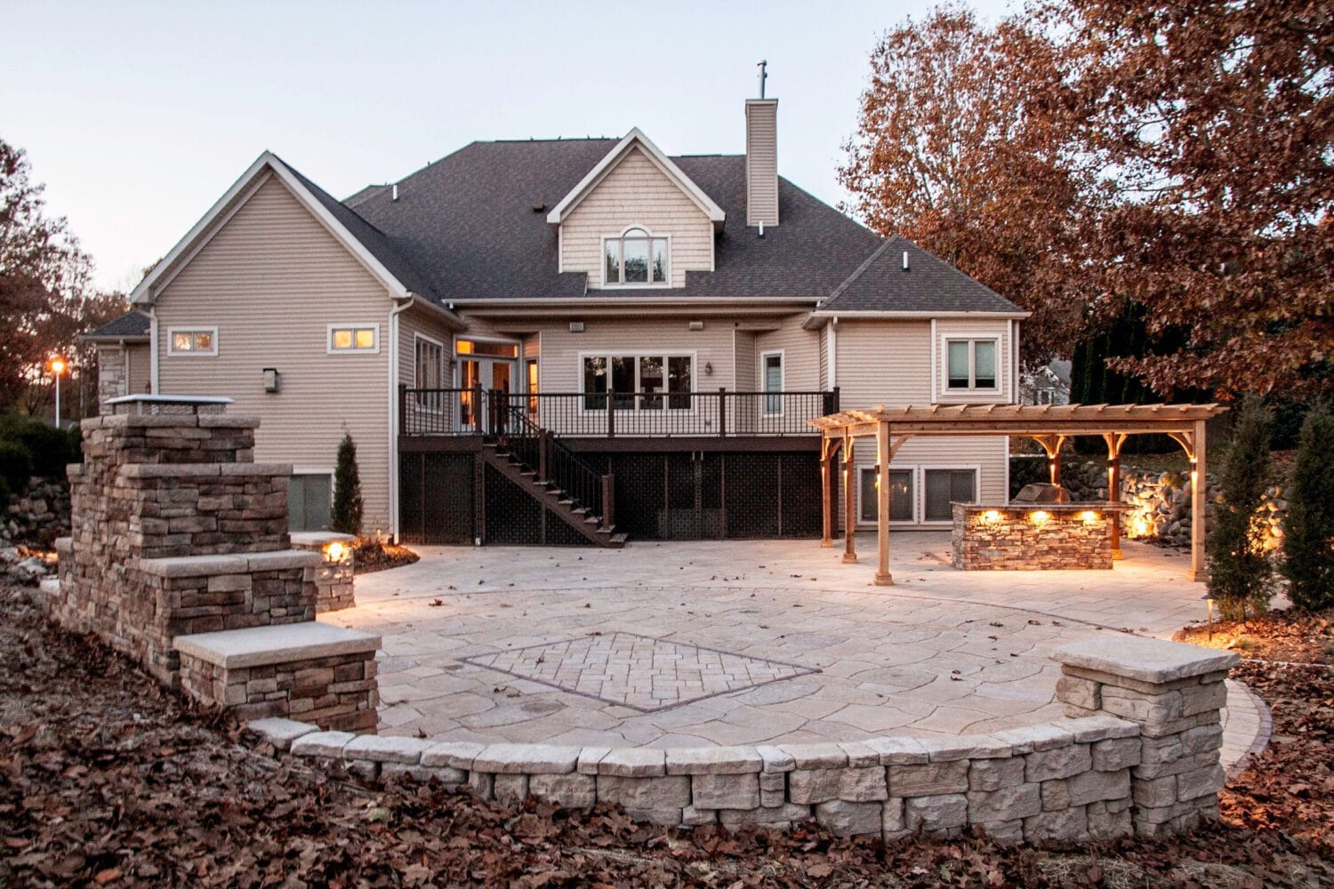 kalamazoo paver patios and fire features